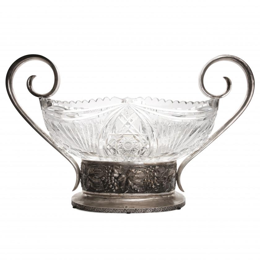 Large crystal interior vase