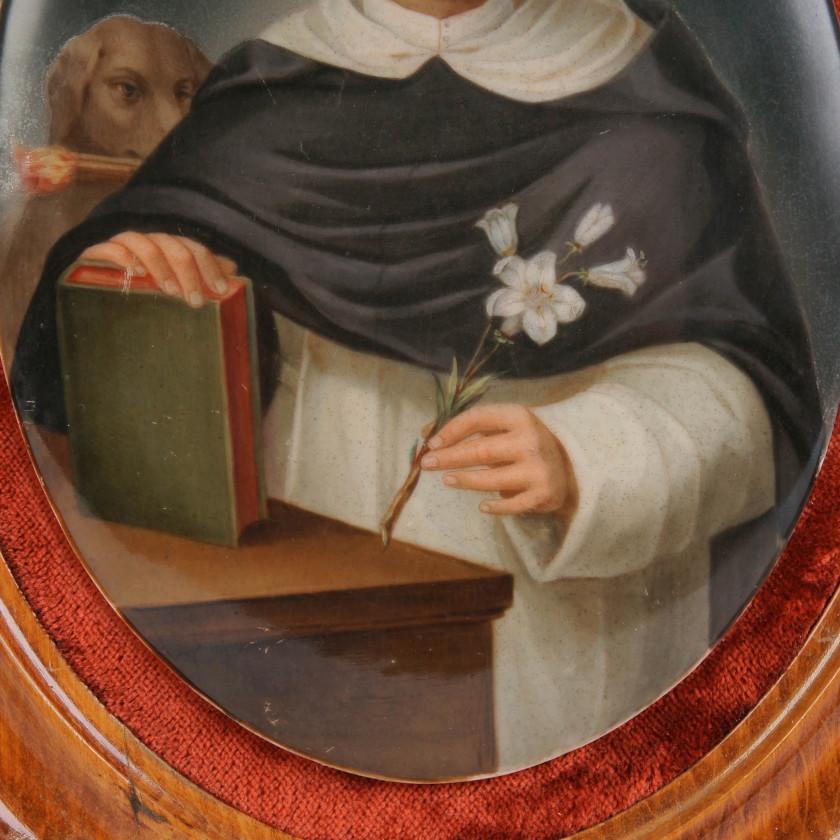 """Porcelain plaque """"Saint Dominic"""""""