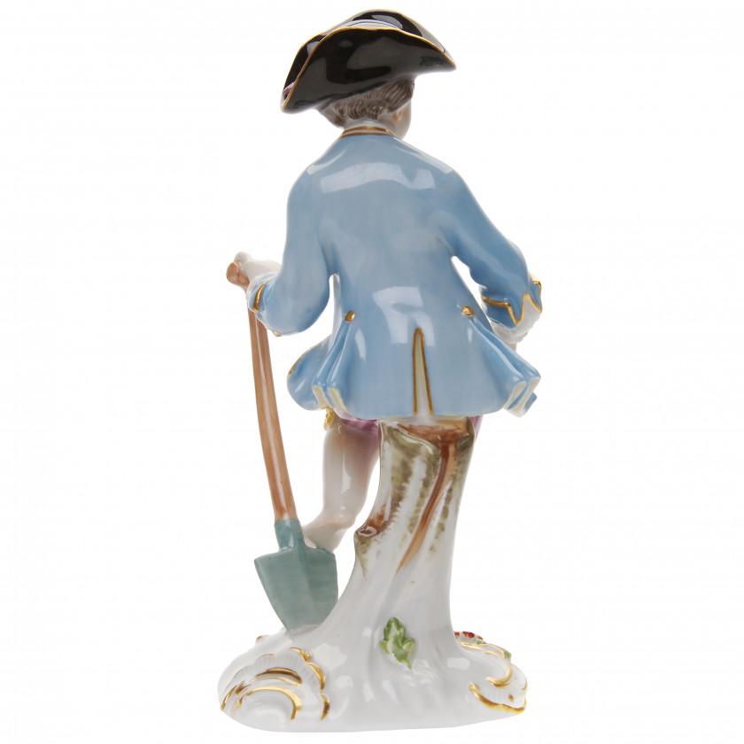 "Porcelain figure ""Gardener with a shovel"""