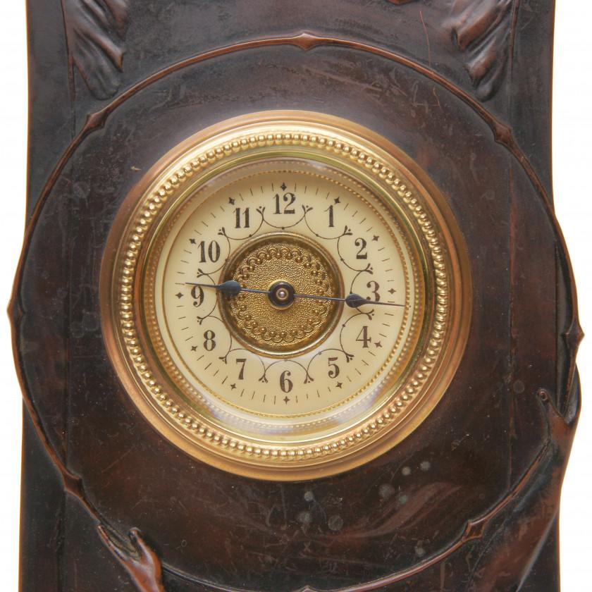 Сopper clock in Art Nouveau style