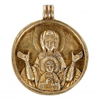 """Silver amulet """"Serpentine"""""""