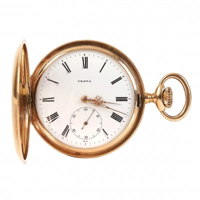 "Zelta kabatas pulkstenis ""Vesta"""