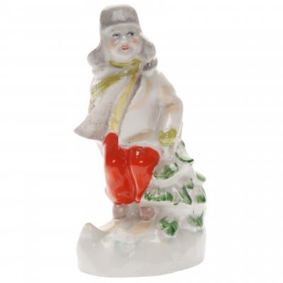"""Porcelain figure """"Skier"""""""