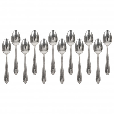 Set of silver coffee spoons, 12 pcs.