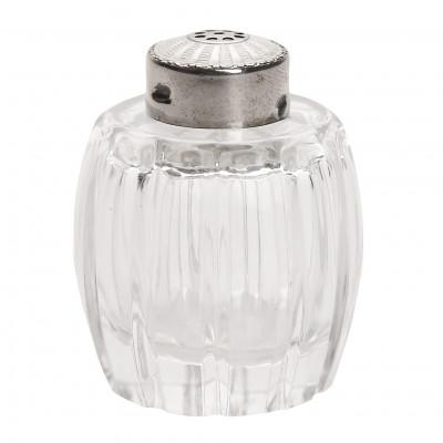 Stikla sālstrauks ar sudrabu