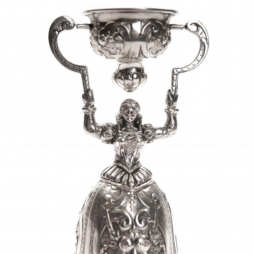 Silver wedding cup