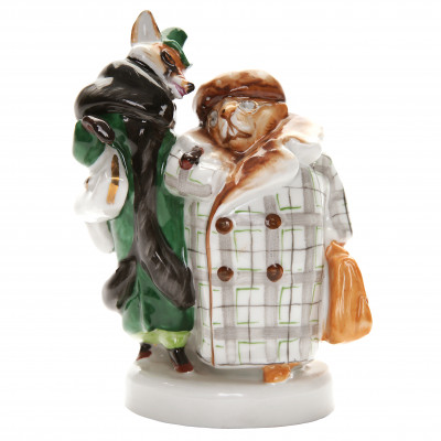 "Porcelain figure ""Fox and beaver"""