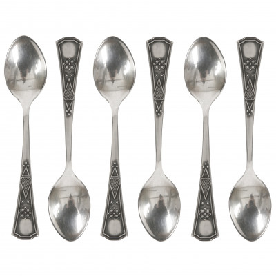 Set of silver coffee spoons, 6 pcs.