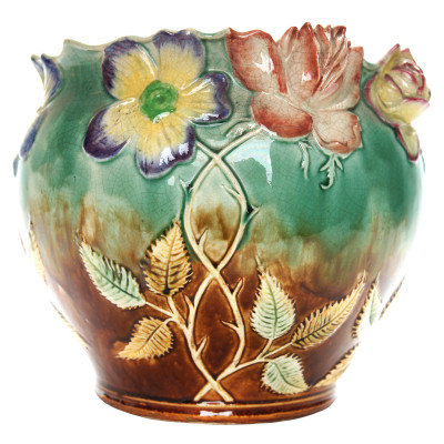 Faience flower pot