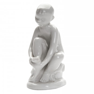 "Porcelain figure ""Boy with a towel"""