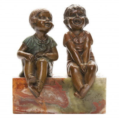 "Bronze figure ""Children"""
