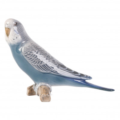 "Porcelain figure ""Budgerigar Blue"""