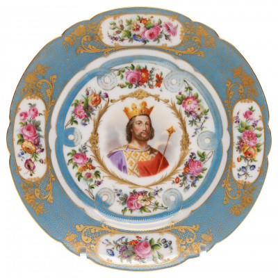 "Porcelain decorative plate ""Louis VII"""