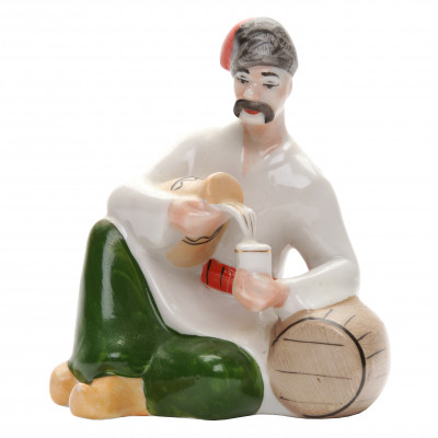 "Porcelain figure ""Cossack with a jug"""