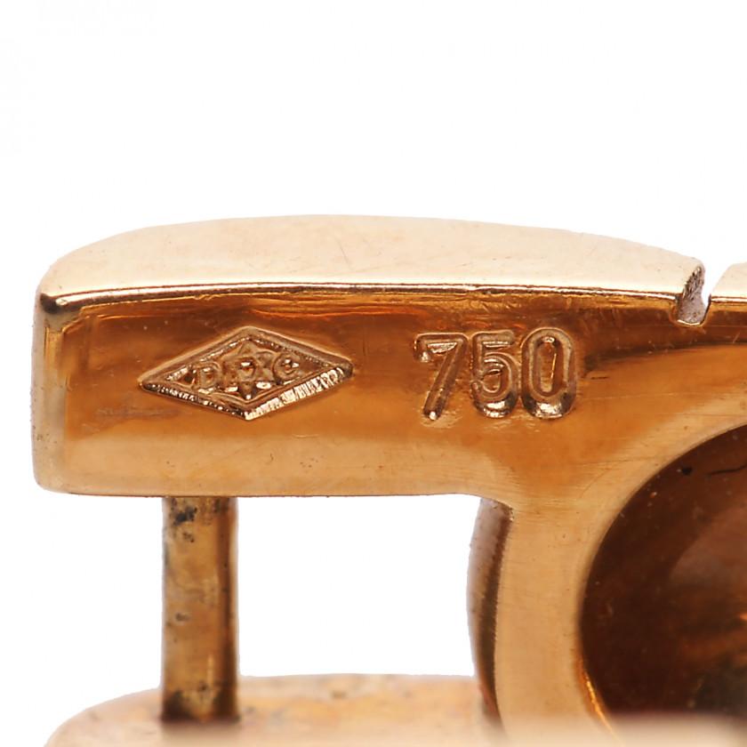"""Gold Cartier сufflinks """"Panthere Maillon"""""""