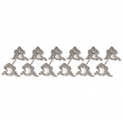 Set of silver knife rests, 6 pcs.