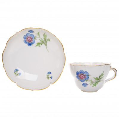 Large porcelain cup and saucer