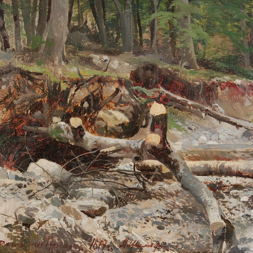 """Painting """"Forest landscape near Gurzuf"""""""