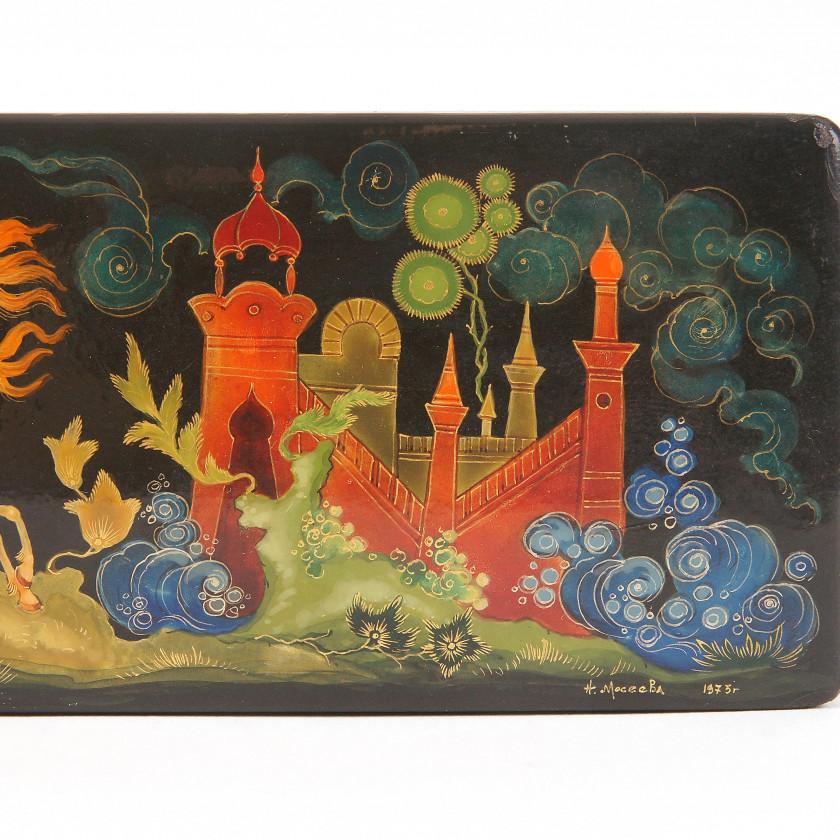 """Lacquer box """"Ruslan and Ludmila"""""""