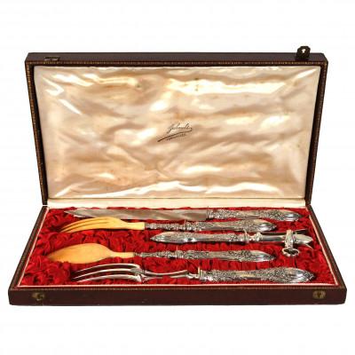 Silver five-piece serving set