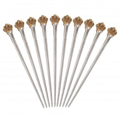 Silver cocktail-sticks, 10 pcs.