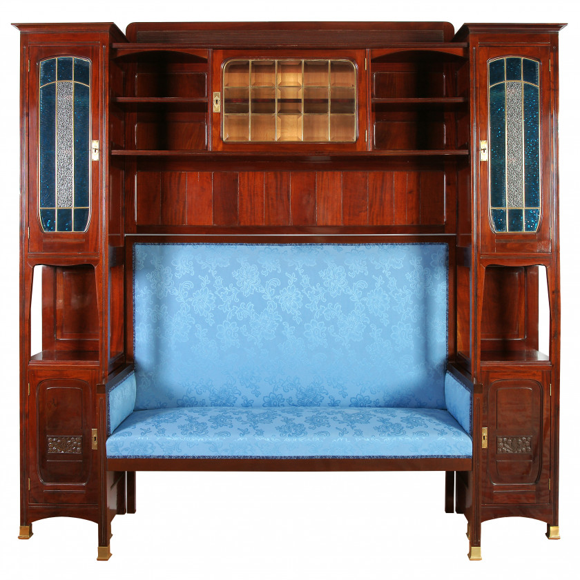 Sofa cabinet in Art Nouveau style