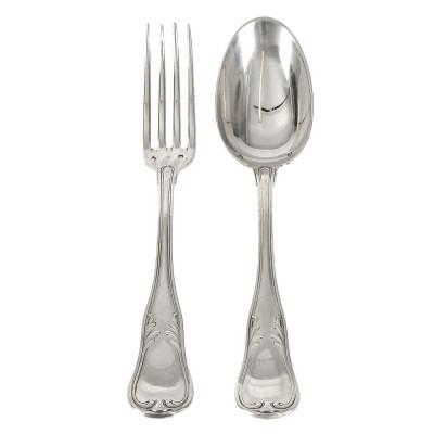 Silver 12 pieces flatware set