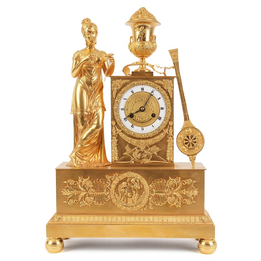 Bronze mantel clock