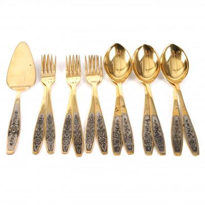 Silver 13 pieces flatware set