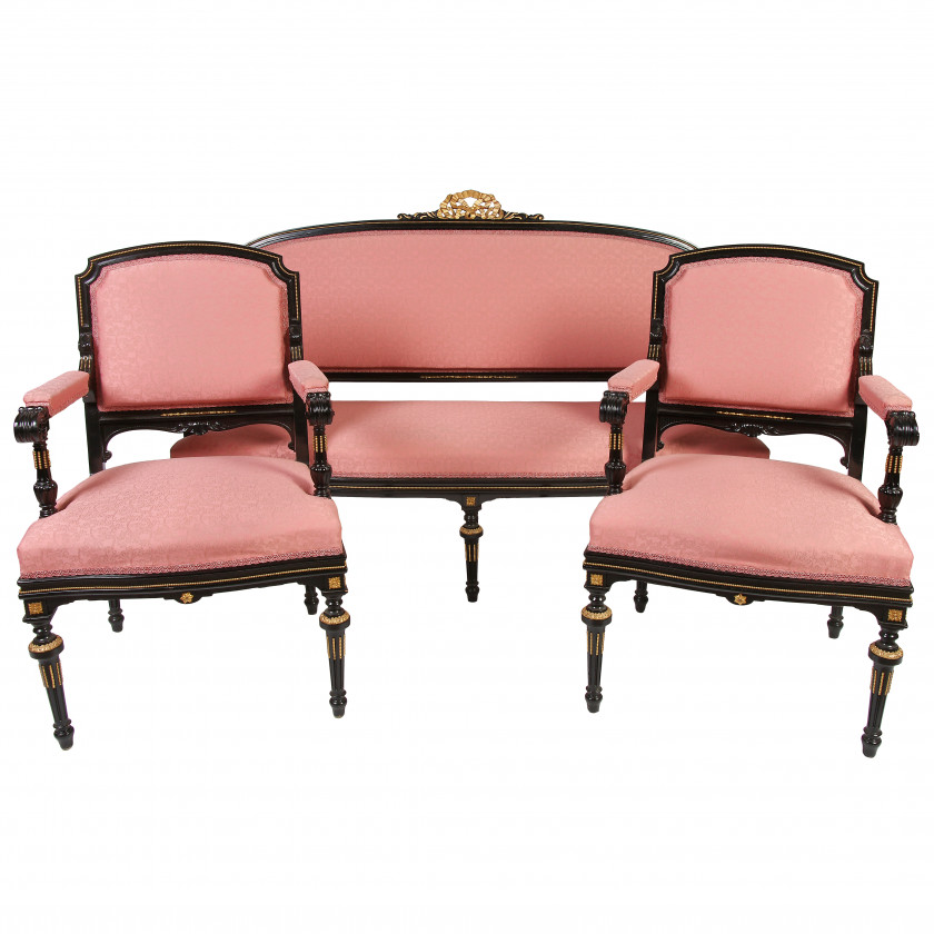 Set of furniture in classicism style