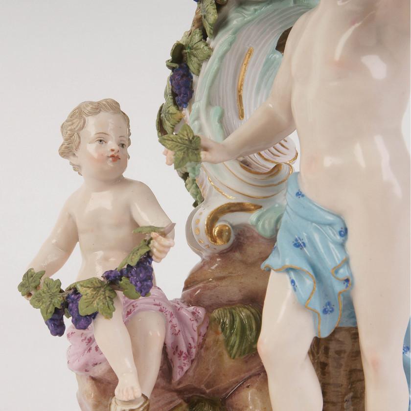 "Porcelain candlestick ""Allegory - Autumn"""
