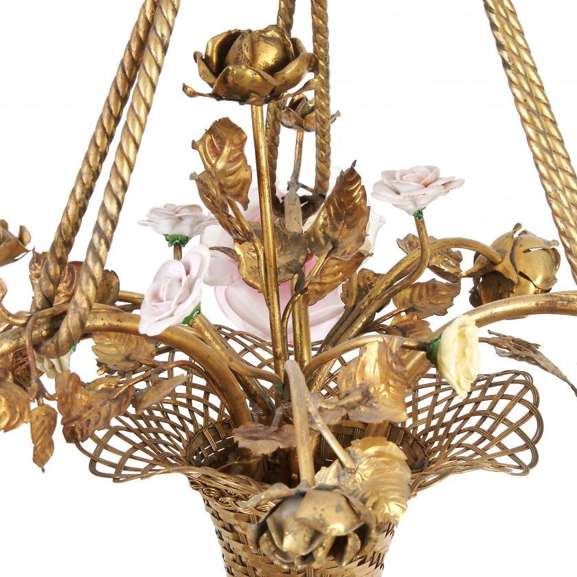 Bronze chandelier