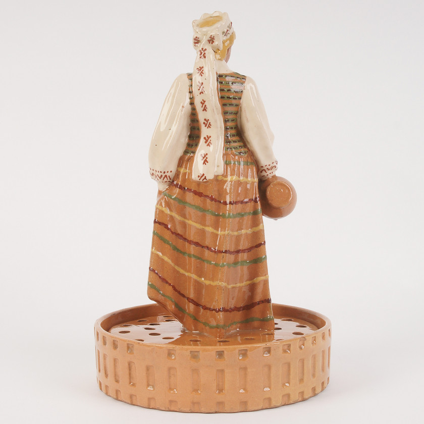 "Ceramic figure ""Girl with a jug"""