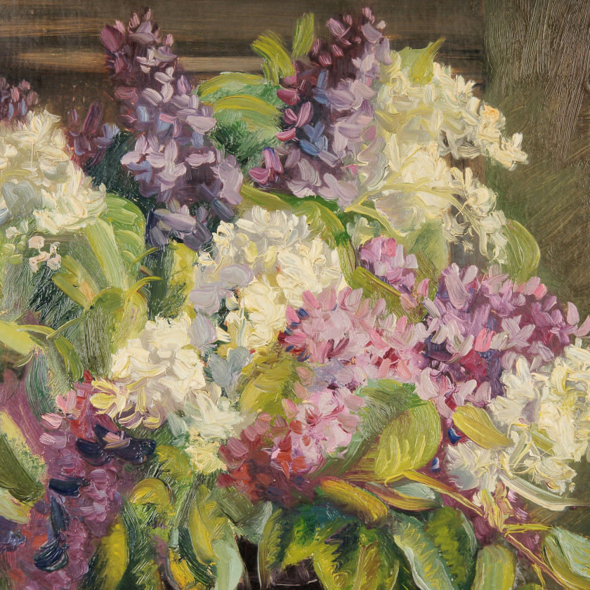"Painting ""Still life with lilacs"""