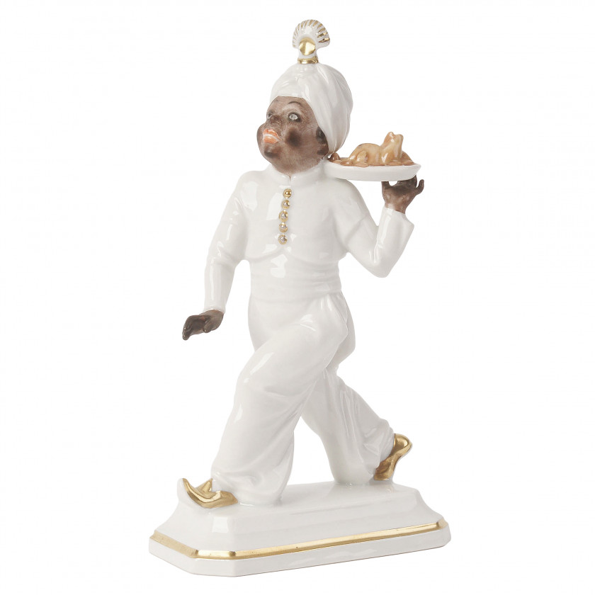 "Porcelain figure ""Moor with turkey"""