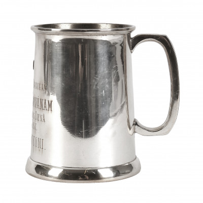 Silver beer mug