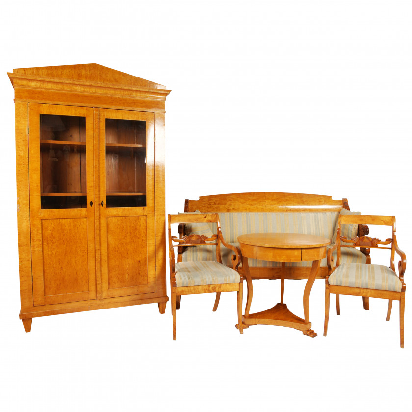 Set of furniture in biedermeier style