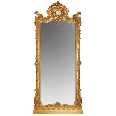 Large floor mirror in rococo style