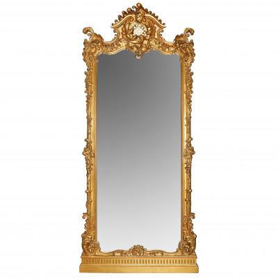 Liels grīdas spogulis rokoko stilā
