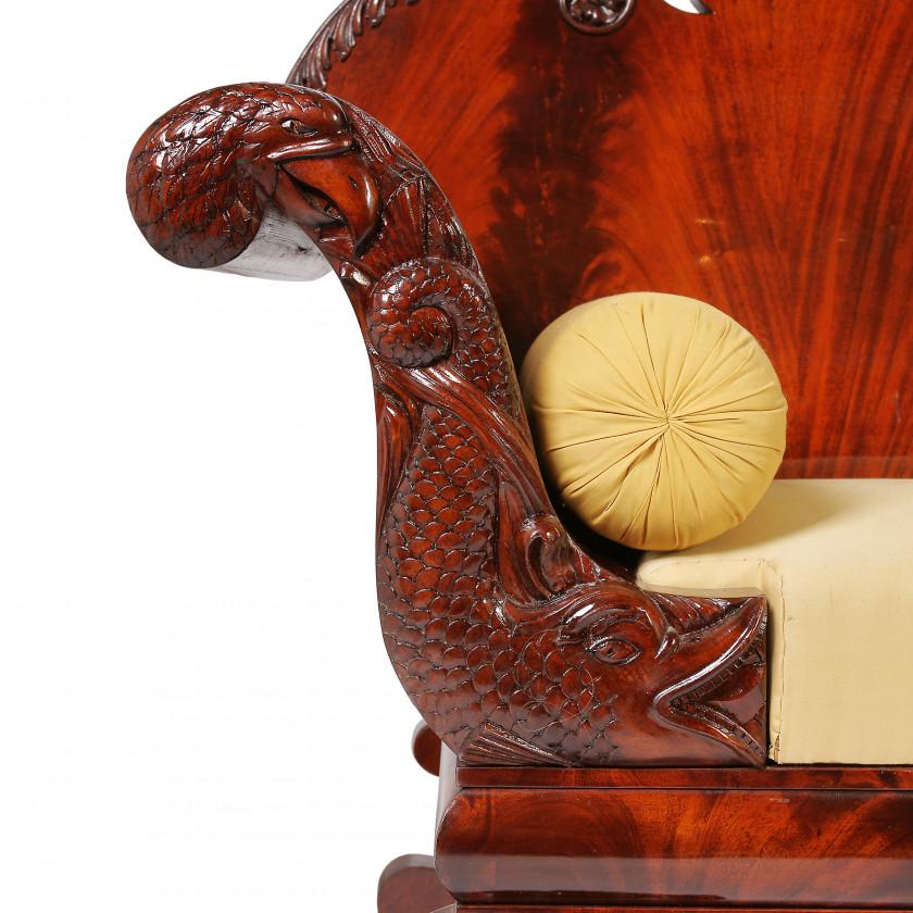 Sofa in biedermeier style