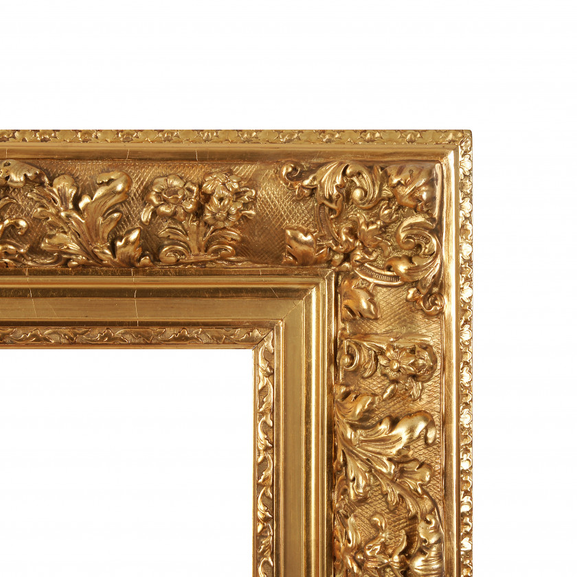 Wooden frame for painting