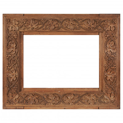 Carved wooden frame for painting