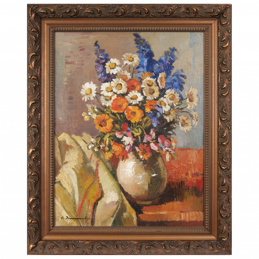 "Painting ""Still life with wildflowers"""
