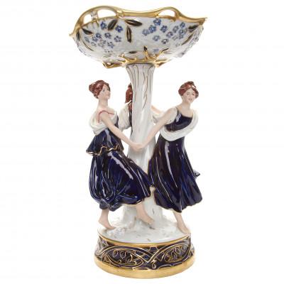 """Porcelain vase """"Dancing girls"""""""