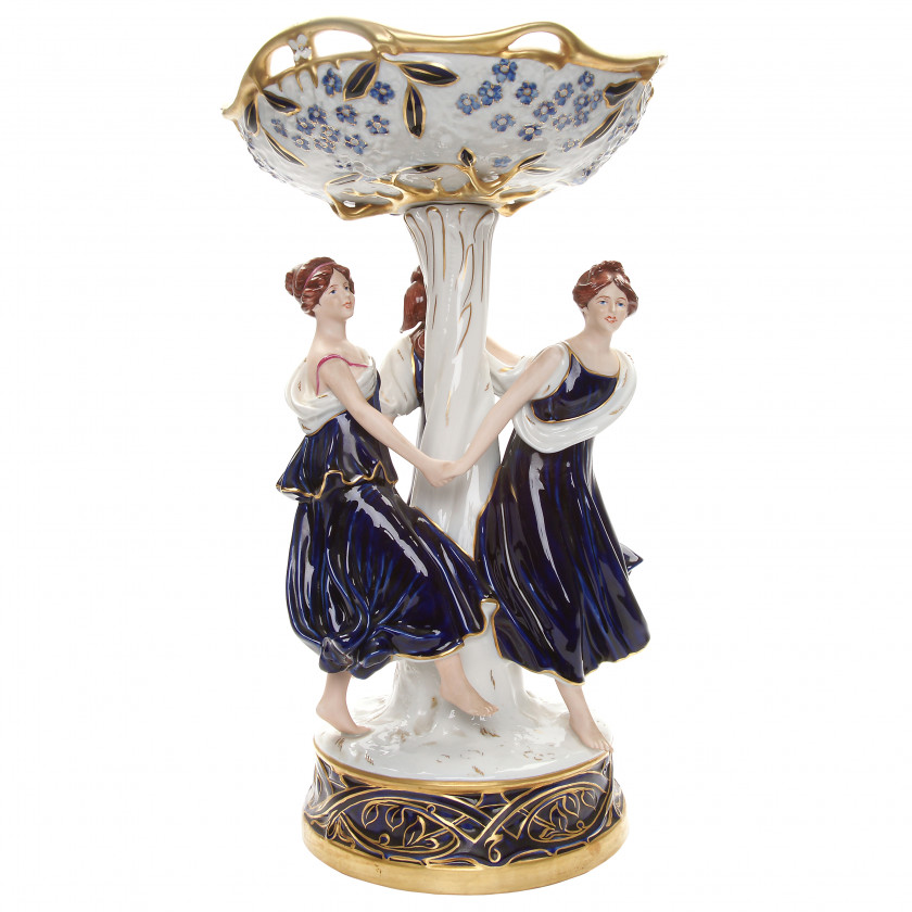 "Porcelain vase ""Dancing girls"""