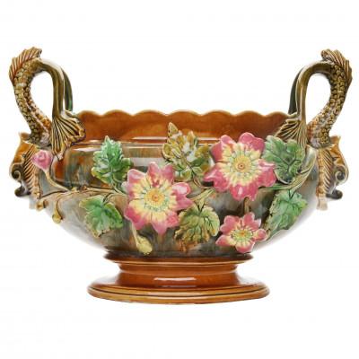 Faience flower pot