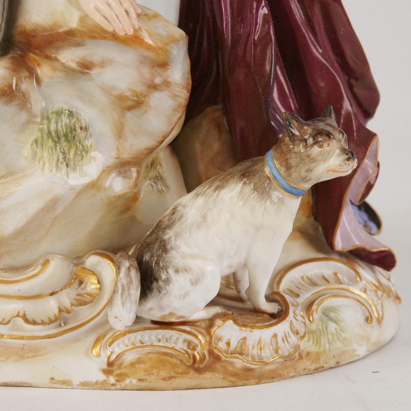 "Porcelain figure ""Shepherds by the wall"""