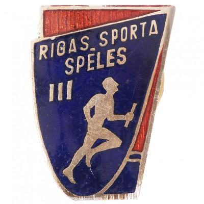 """Badge """"III Riga sports games"""""""