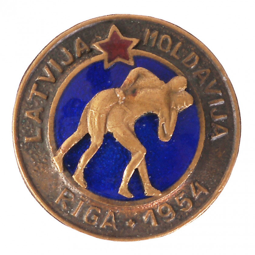 "Badge ""Wrestling сompetition Latvia - Moldova"""