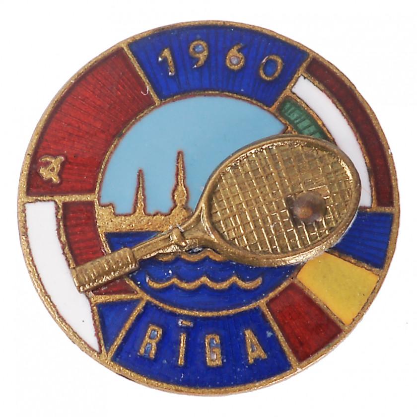 "Badge ""International tennis competition in Riga"""